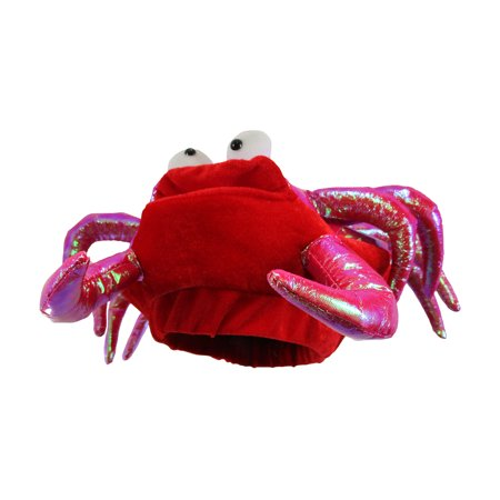 Red Novelty Lobster Crab Seafood Hat Costume Accessory Adult Fish Cap