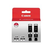 Canon PGI-250PGBK XL High-Capacity Pigment Black Ink Cartridge (2 Pack)