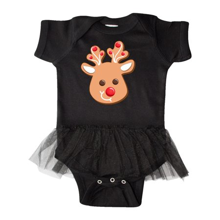Reindeer Christmas Cookie Infant Tutu Bodysuit
