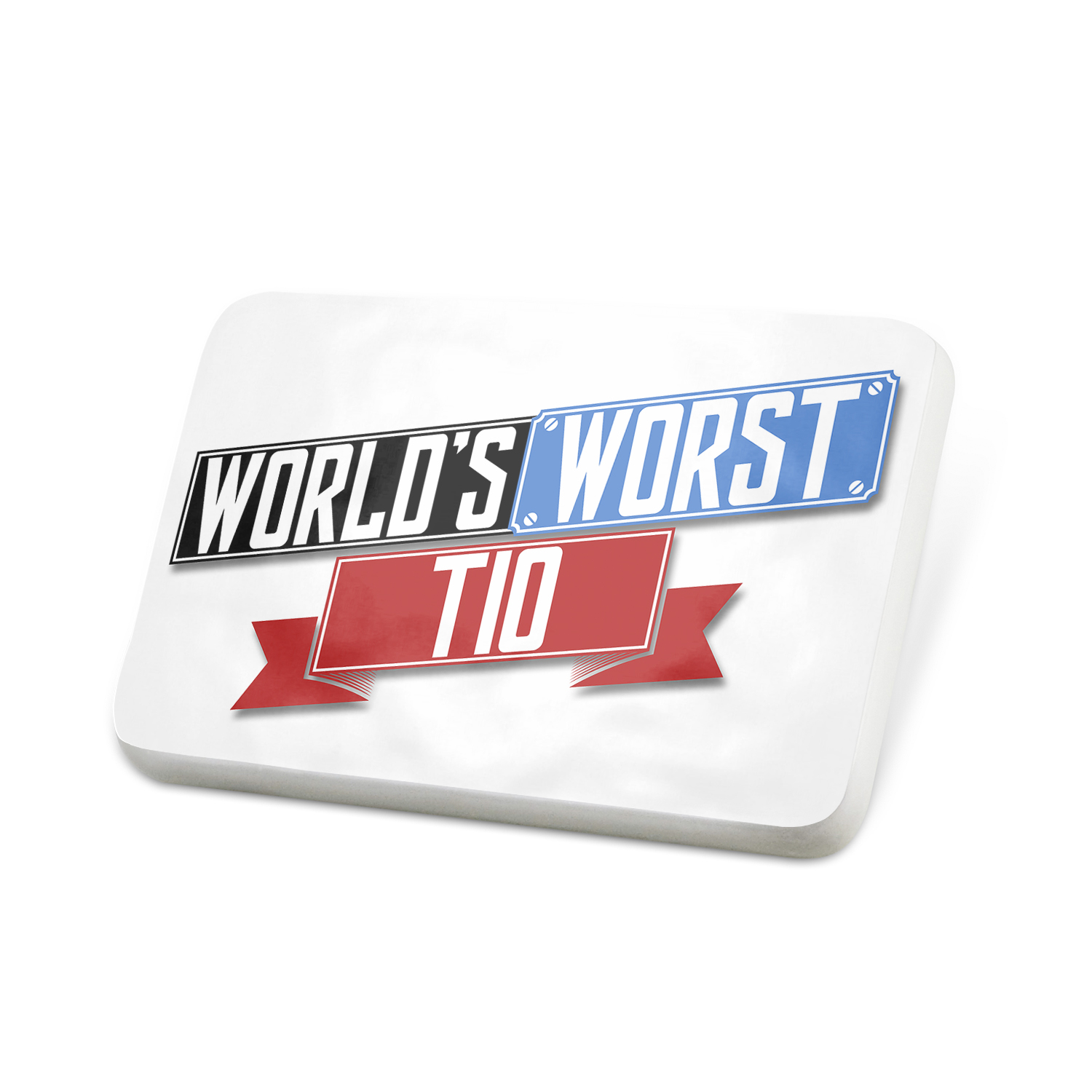 Porcelein Pin Funny Worlds worst Tío Lapel Badge – NEONBLOND