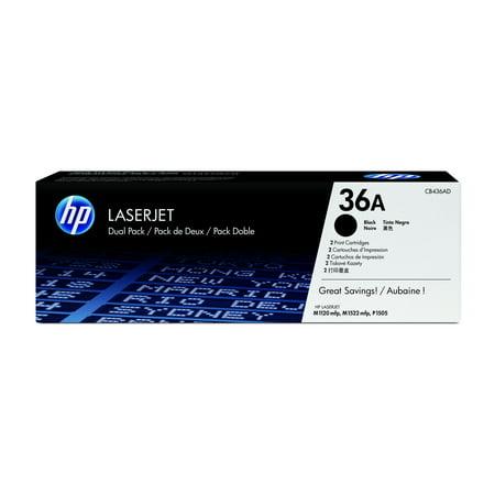 HP 36A - 2-pack - black - original - LaserJet - toner cartridge (CB436D)