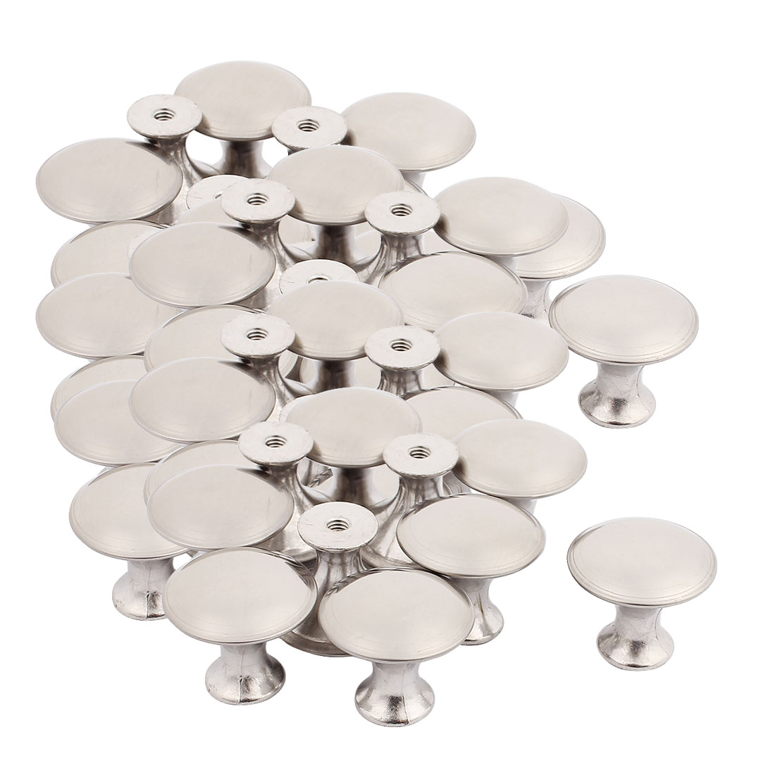 Chest Cabinet Stainless Steel Round Pull Knobs 23.5mmx20.5mm 50pcs