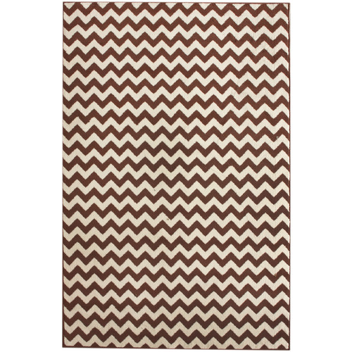 nuLOOM Allure Brown/Ivory Chevron Area Rug