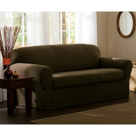 Maytex Stretch Reeves 2 Piece Loveseat Furniture Cover Slipcover ()