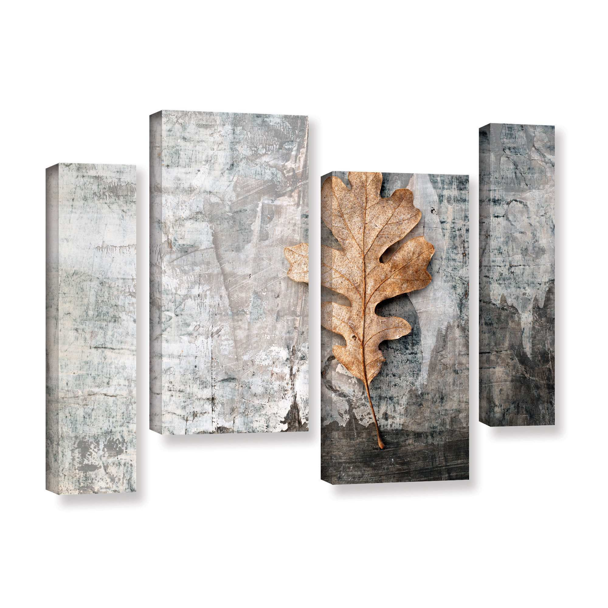 Artwall Still Life Leaf By Elena Ray 4 Piece Photographic Print On Wrapped Canvas Staggered Set Walmart Com Walmart Com
