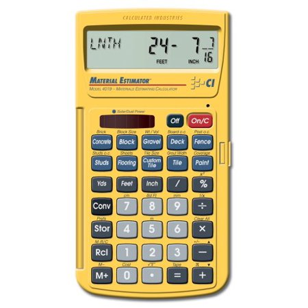 4019 Materials Estimating Calculator  Usa  Brand Calculated Industries
