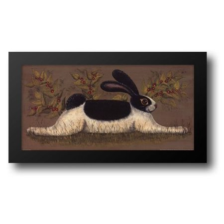 FrameToWall - Green Folk Bunny 20x12 Framed Art Print by Hilliker, Lisa