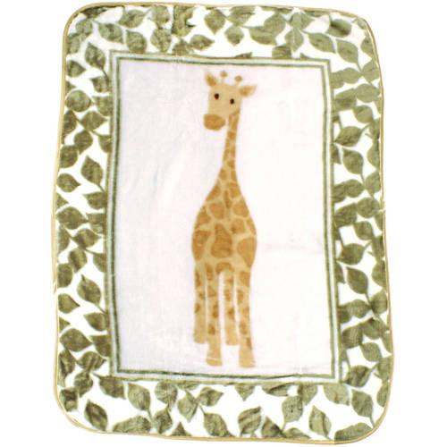 Luvable Friends Baby Boys' and Girls' High Pile Blanket - Giraffe