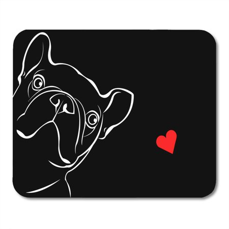 JSDART Love Dog Breed Cute Pet Bulldog French Black Boxer Sketch Adult Mousepad Mouse Pad Mouse Mat 9x10 inch - image 1 of 1