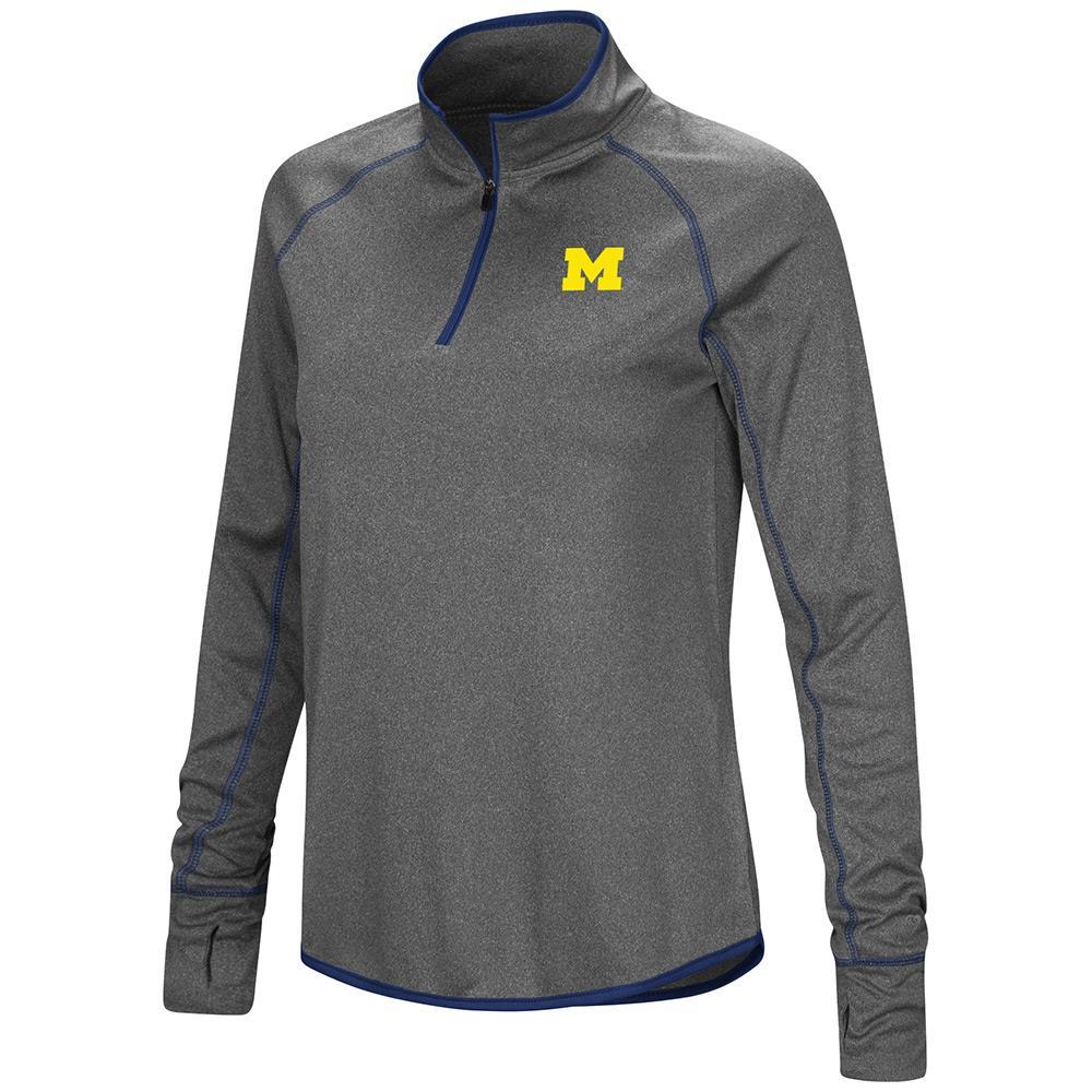 Womens Michigan Wolverines Quarter Zip Wind Shirt - S
