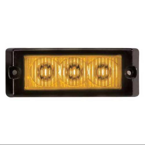 CODE 3 XT3A Single Lighthead,LED,Amber,Rect,3-1/2 L