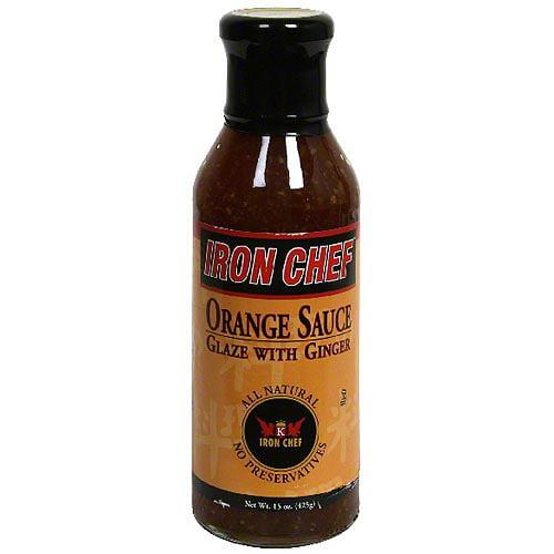 Iron Chef Orange Sauce Glaze With Ginger, 15 oz (Pack of 6)