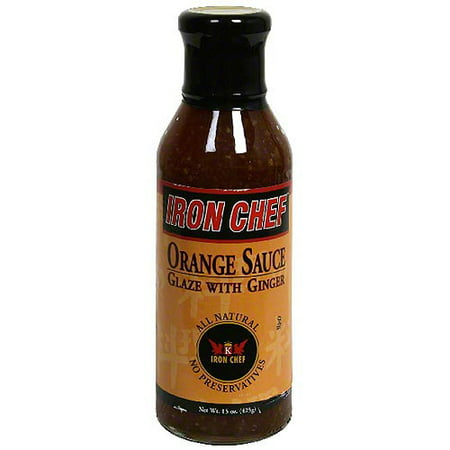 Iron Chef Orange Sauce Glaze With Ginger, 15 oz (Pack of -