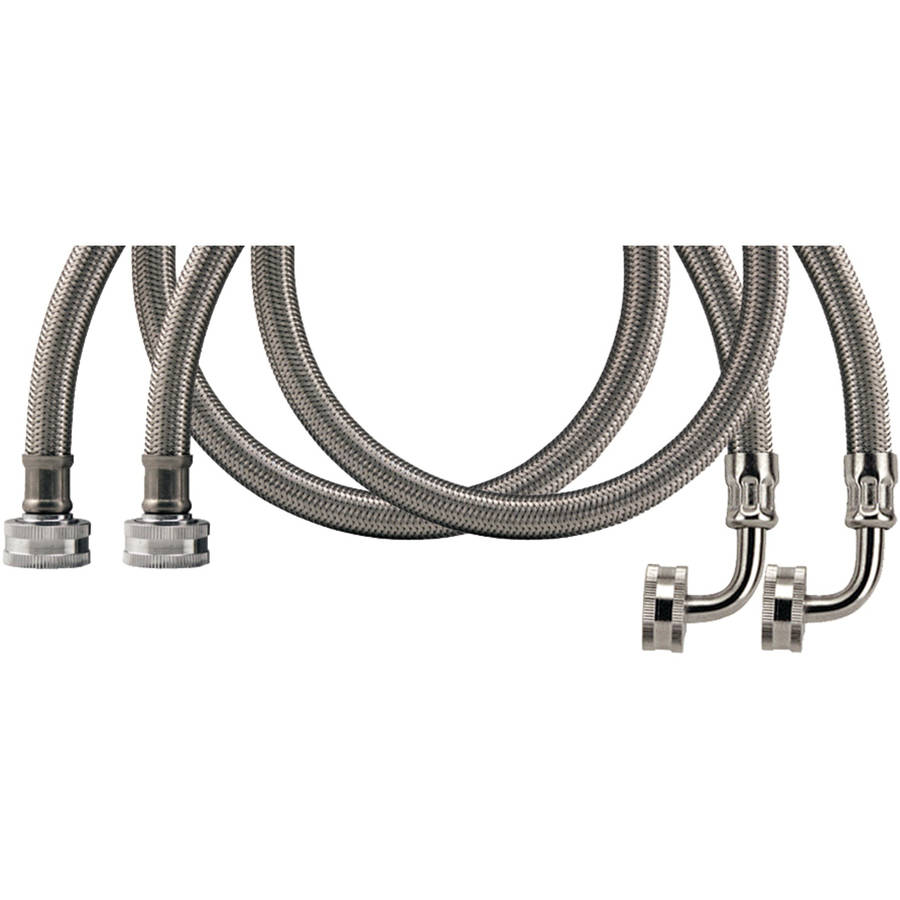 Certified Appliance Wm60Ssl2Pk Braided Stainless Steel Washing Machine Hose With Elbow, 2-Pack, 60""