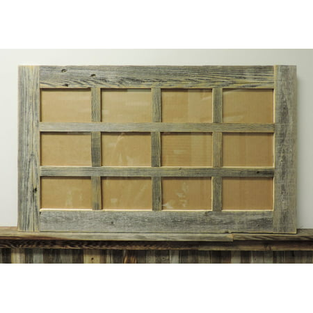 Allbarnwood Multi Picture Barnwood Collage Frame--12 Opening for 4