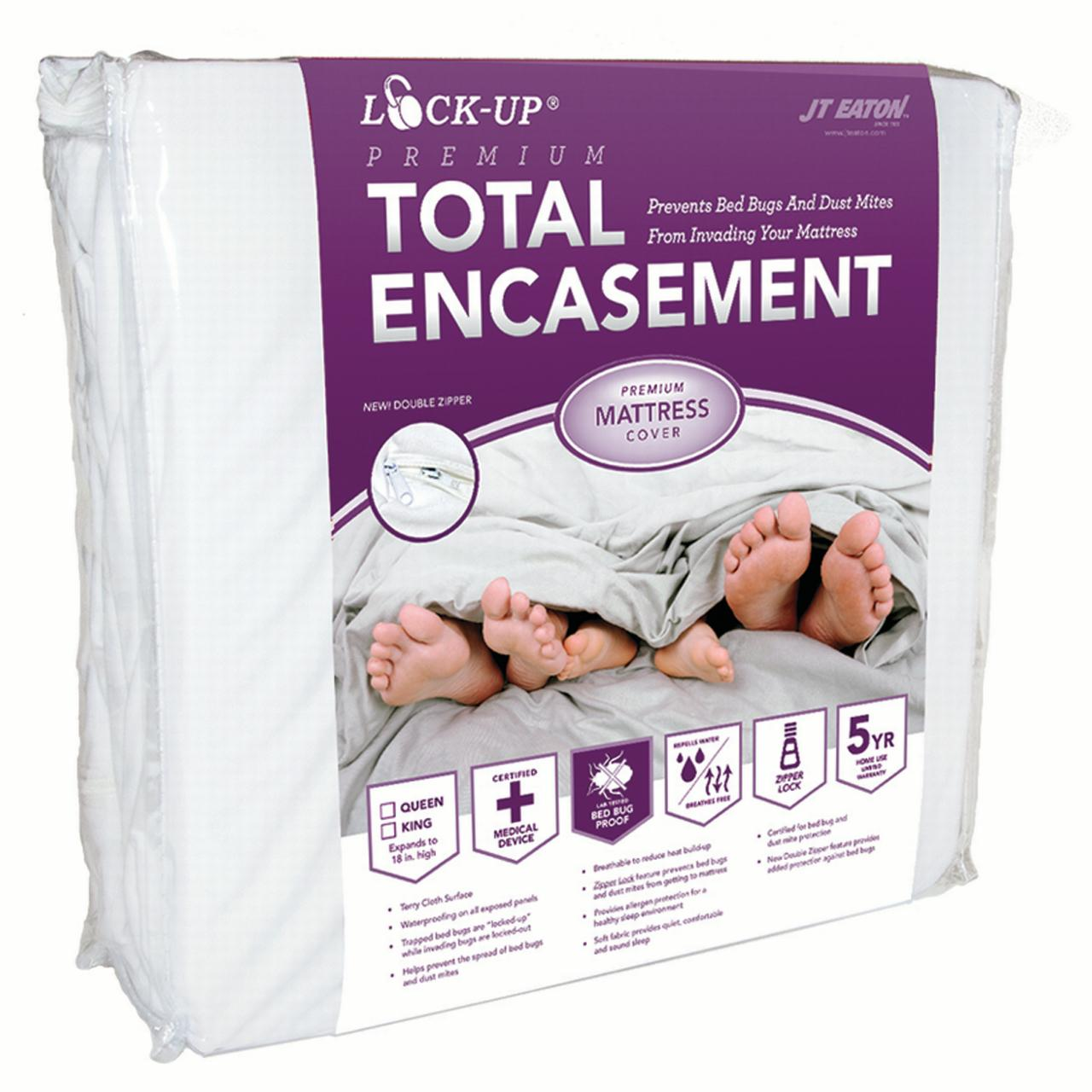 JT Eaton 81TWXLENC Lock-Up Total Encasement Bed Bug Protection for Mattress, TwinXL