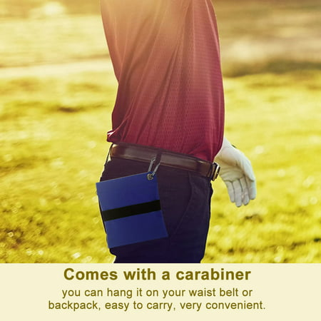HURRISE Golf Tee Pouch,Zippered Golf Ball Storage Bag Holder with Carabiner Golfing Accessories