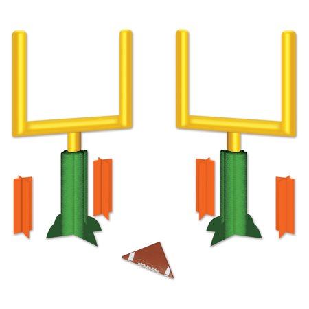 Beistle Football Goal Post 3D Decoration 7pc 11