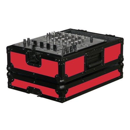 Odyssey Cases FR12MIXBKRED New Red Designer DJ Series For 12 Inch Mixer Case ()