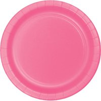 Hoffmaster Group 533042 7 in. Lunch Plate, Candy Pink - 8 per Case - Case of 12