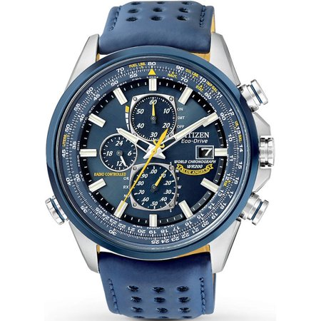 Citizen Mens Eco-Drive Blue Angels Chronograph Atomic Watch, AT8020-03L