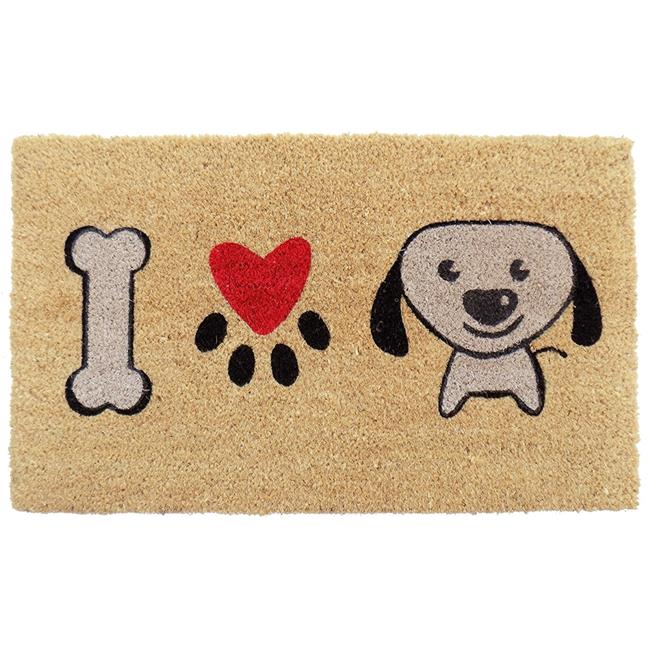 Imports Decor 535PVC I Love Puppy Door Mat - image 1 de 1