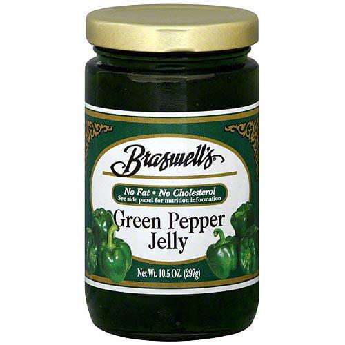 Braswell's Green Pepper Jelly, 10.5 oz (Pack of 6)