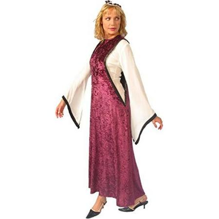 Alexanders Costumes 27-222-BUR Womens Noble Maiden, Burgundy - (Women's Noble Indian Costumes)