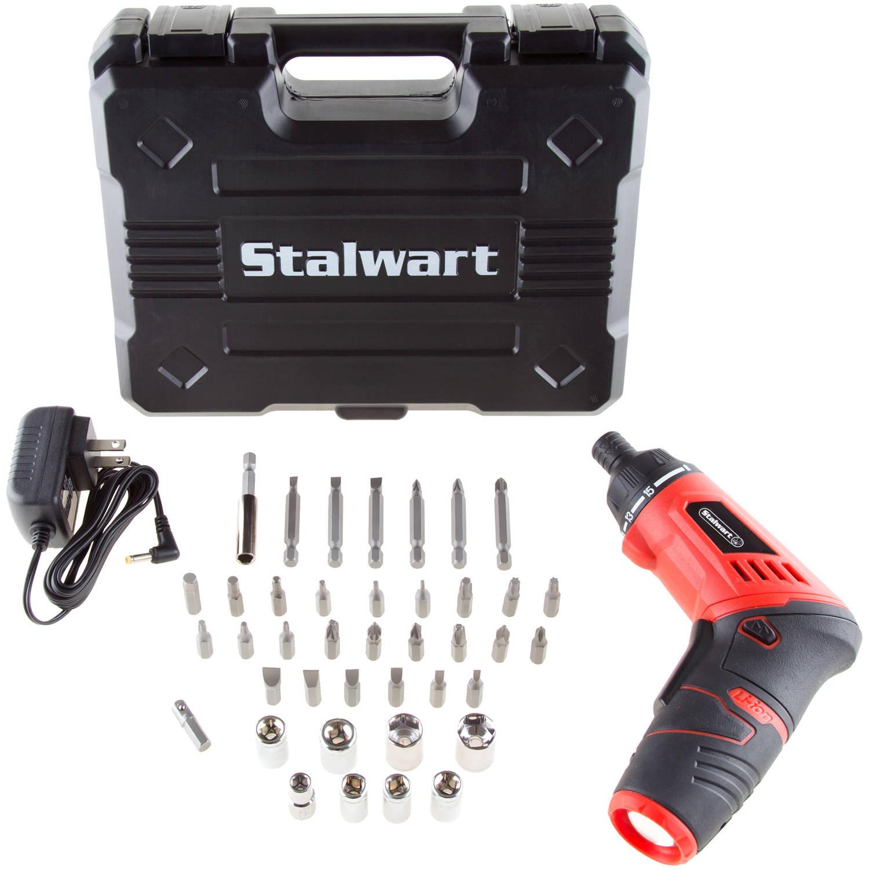 Stalwart 3.6V Lithium Ion Dual Position Cordless Screwdriver Set