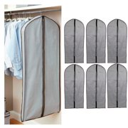 6 Clothes Garment Suit Dress Storage Bag Dust Cover Travel Carrier Proof Protect