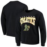 Oakland Athletics Stitches Pullover Crew Neck Sweatshirt - Black