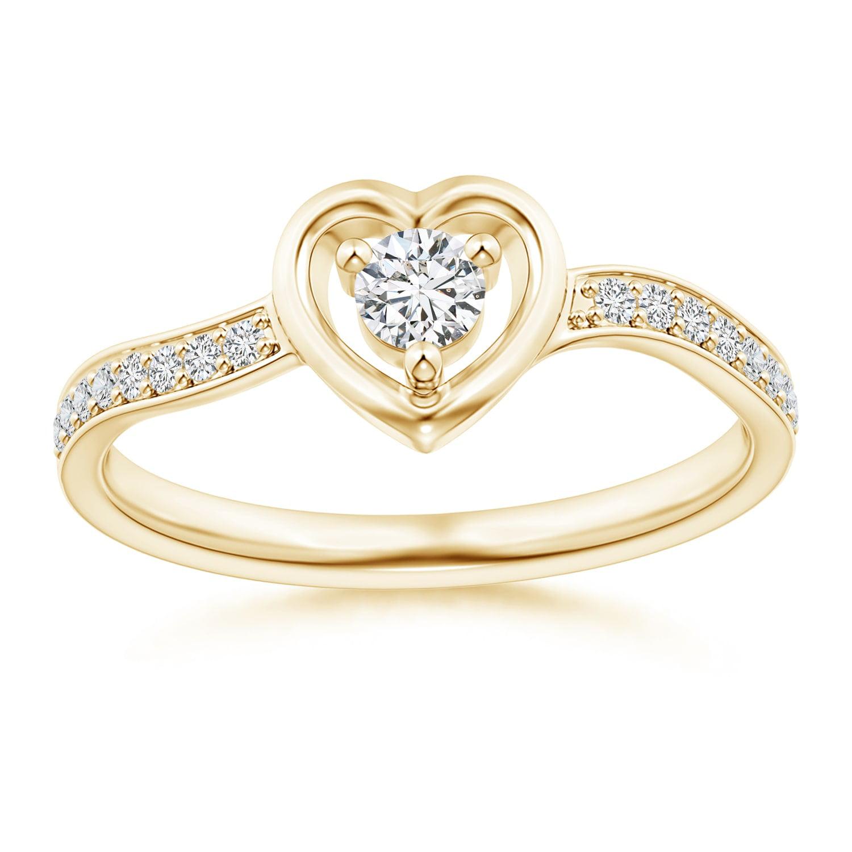 april birthstone twist shank open heart round diamond. Black Bedroom Furniture Sets. Home Design Ideas