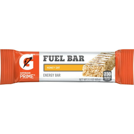Gatorade Prime Fuel Bar, Honey Oat, 5g Protein, 12 Ct