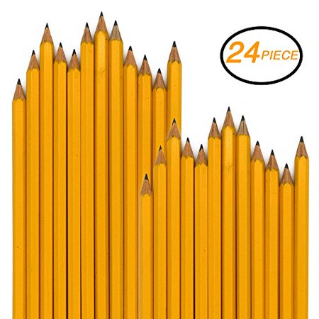 Emraw Pre Sharpened No 2 HB Wood Cased Pencils with Eraser Top, Bulk Pack of 24 Pencil - for Kids, Students, Teachers, Office and Home Use](Personalized Pencils Bulk)