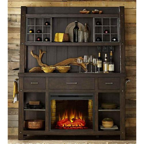Buffet with Electric Fireplace - Walmart.com