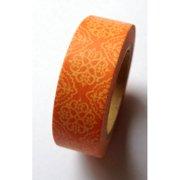 Love My Tapes Washi Tape 15mmX10m-Orange Damask