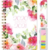 "HARDCOVER Academic Year 2020-2021 Planner 5.5""x8"" (Elegant Floral) - AMZPLAN-AY20-01W"