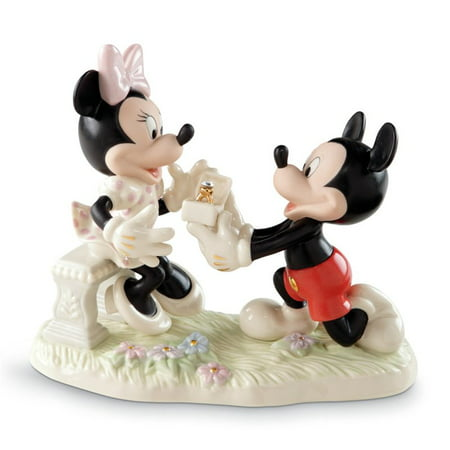 - Lenox Minnie's Dream Fine China Proposal Figurine with Gold Accents