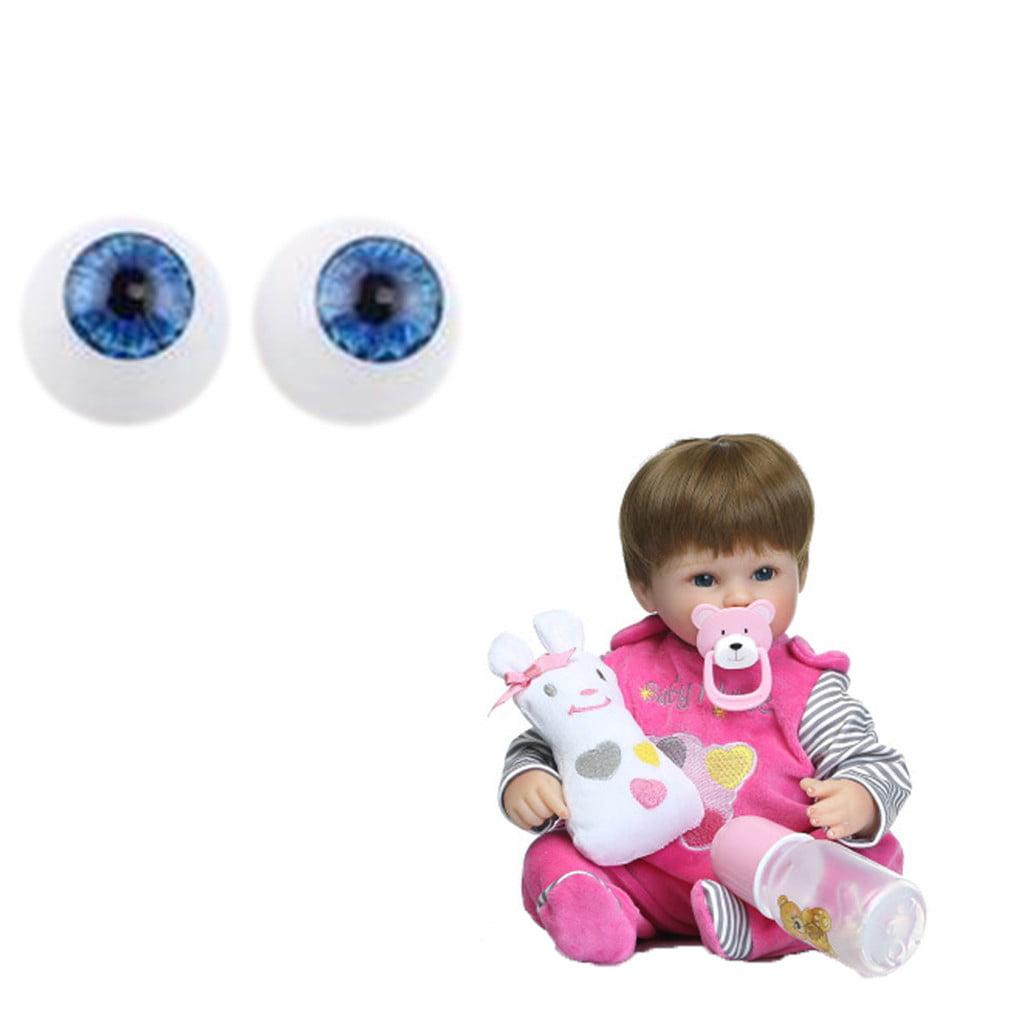 20mm  Brown reborn baby  doll eyes half round acrylic bjd crafts