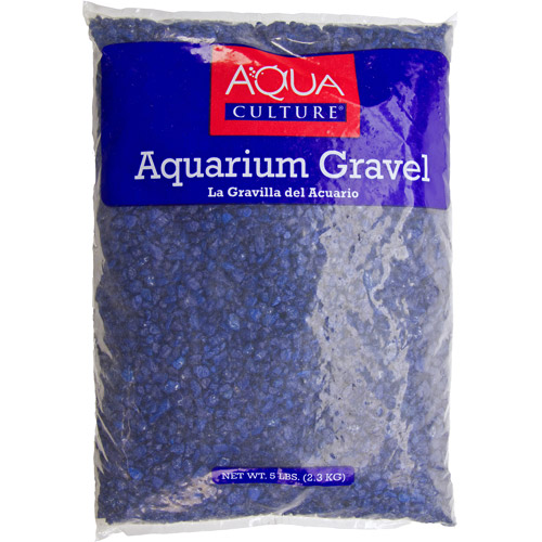 Aqua Culture Aquarium Gravel, Dark Blue, 5 lb