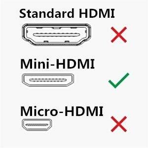 VCE 4K Mini HDMI Male to HDMI Female Converter Adapter Cable-6 inch