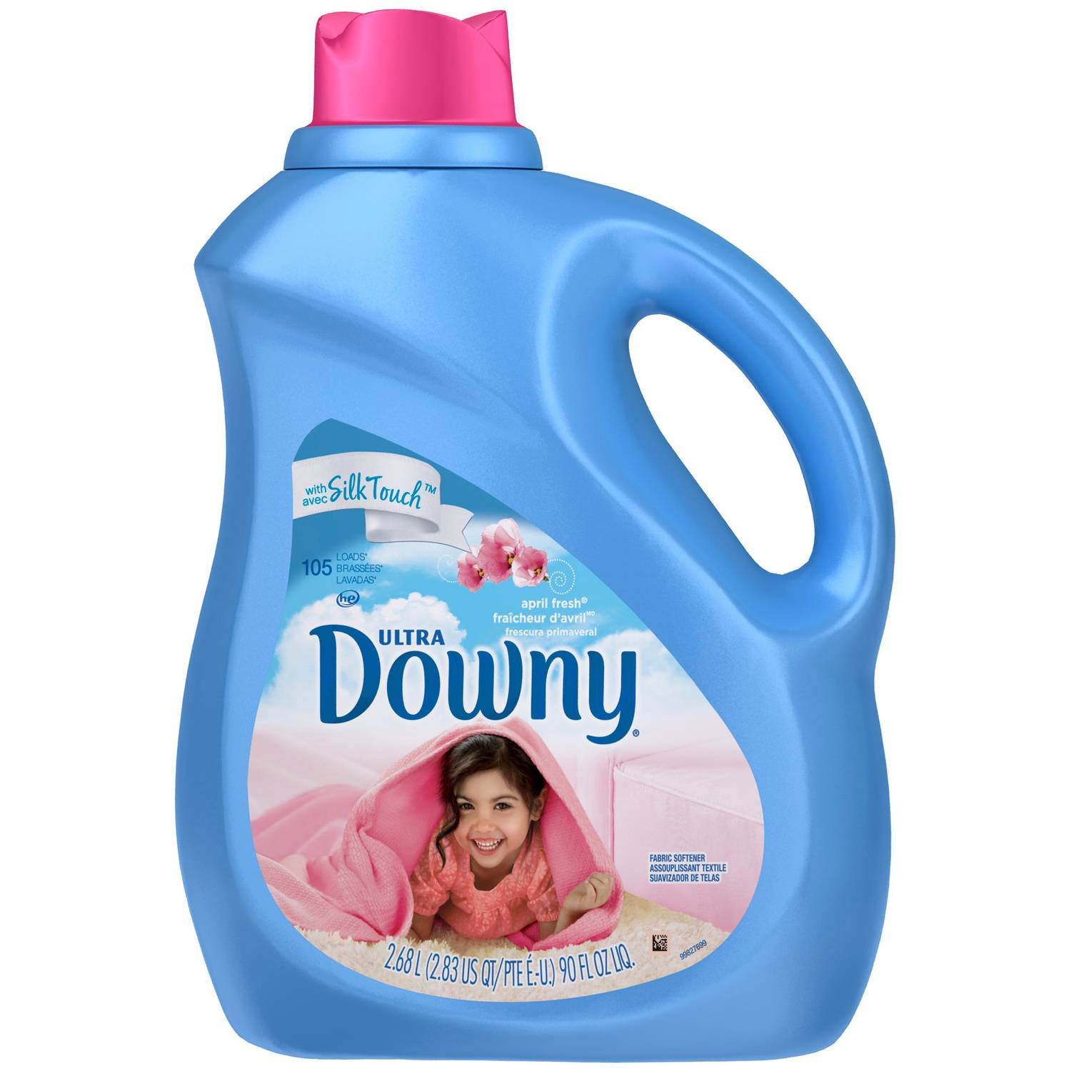 Ultra Downy April Fresh Scent Liquid Fabric Softener, 90 fl oz
