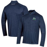 Men's Russell Athletic Heathered Navy Notre Dame Fighting Irish Athletic Fit Quarter-Zip Pullover Jacket