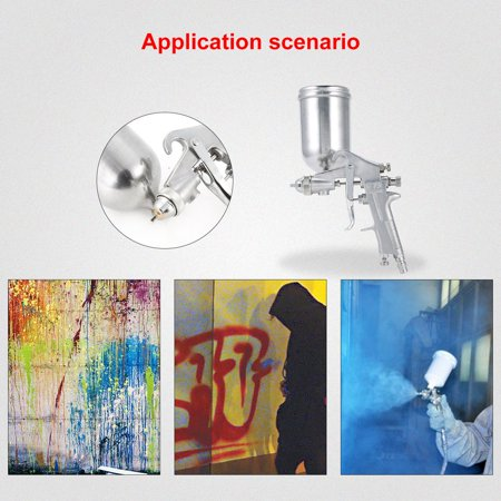 F75 Air Painter Spray Gun Pneumatic 1.5mm Nozzle 400ML Airbrush Sprayer Painting Atomizer Tool With Hopper For Painting Cars - image 2 of 8