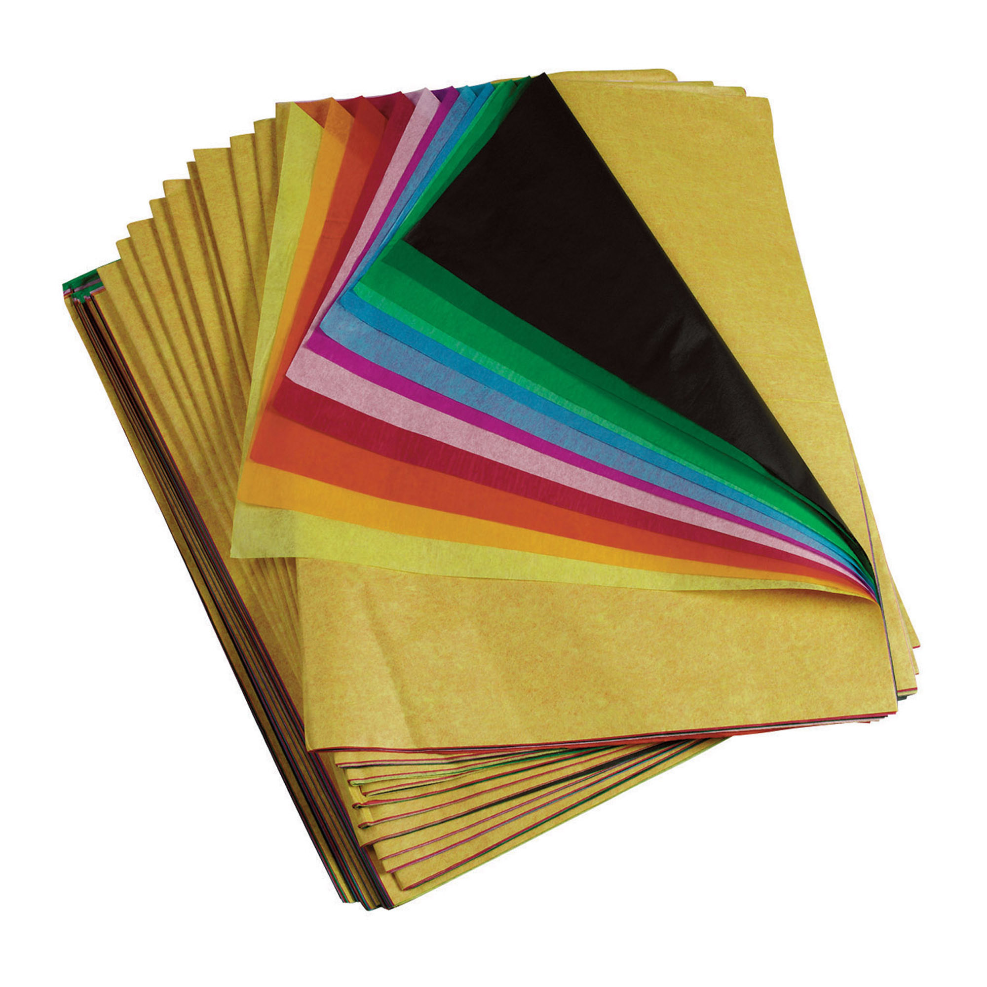 "Spectra® Deluxe Bleeding Tissue Paper, 20"" x 30"", Rainbow, Pack of 480"