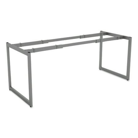 Alera Alera Open Office Desk Series Adjustable O Leg Desk Base  30  Deep  Silver