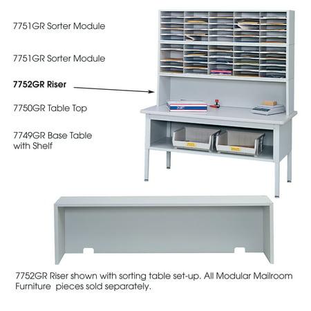 Safco 7752GR Mail Sorters E-Z Sort Riser