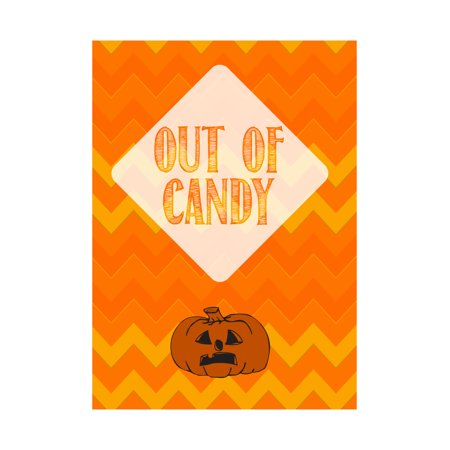 Halloween Pumpkin Sad Face (Out Of Candy Yellow Orange Print Sad Pumpkin Picture Cute Halloween Seasonal Decoration)