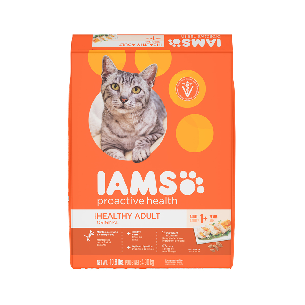 IAMS PROACTIVE HEALTH Adult Original With Chicken Dry Cat Food 10.8 Pounds