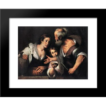 Prophet Elijah And The Widow Of Sarepta 20X24 Framed Art Print By Bernardo Strozzi